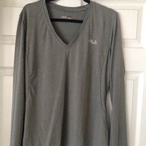 Fila long sleeve work out top